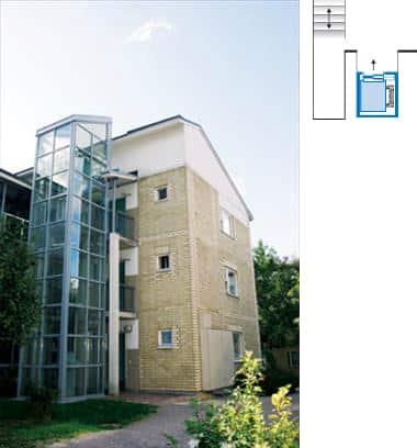 Esempi di installazione for Quanto costa un ascensore esterno